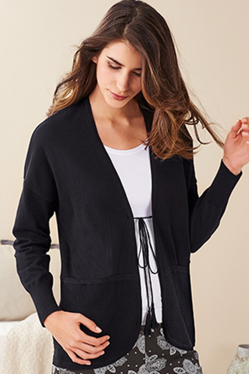 Women Open Cardigan, Black