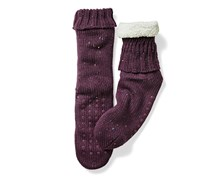 Women's Homeslipper Socks, Berry/Offwhite
