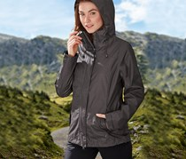 Women Performance All-Weather Jacket, Heather Grey