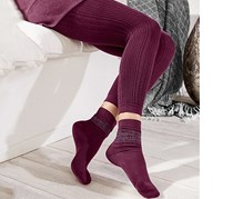 Women's Knitleggings, Berry