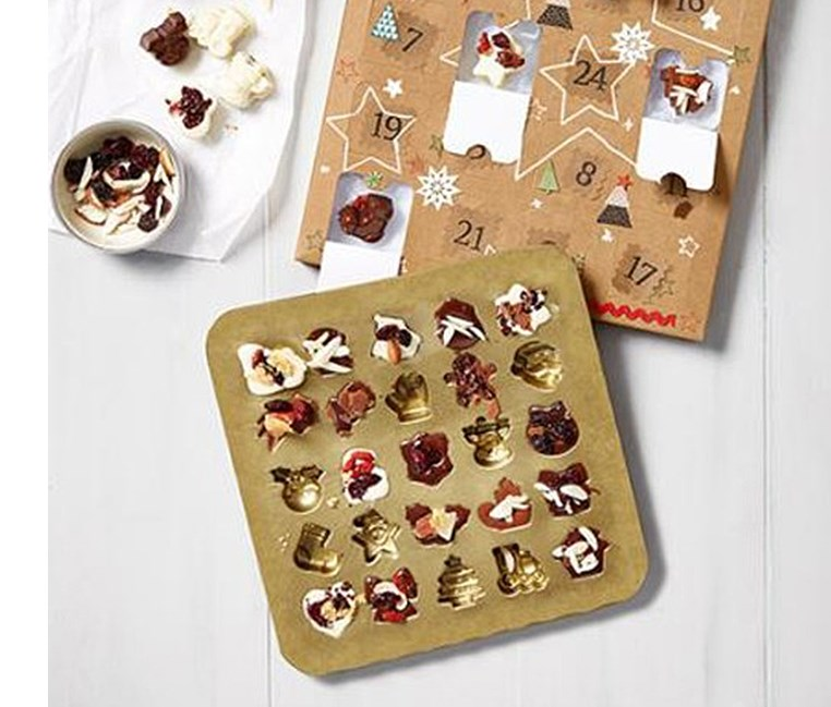 Chocolate Christmas Calendar Set, Brown