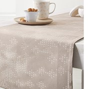 Jacquard Table Runner, 180 x 40 cm, Sand Color