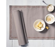 2 Reversible Place Mats, 48 x 33 cm, Sand Color
