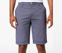 INC International Concepts Mens Chambray Shorts, Navy