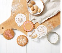 Biscuit Cutters with Templates,White