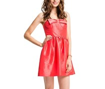 CeCe Women's Kensie Bustier Bow Dress, Coral Stone