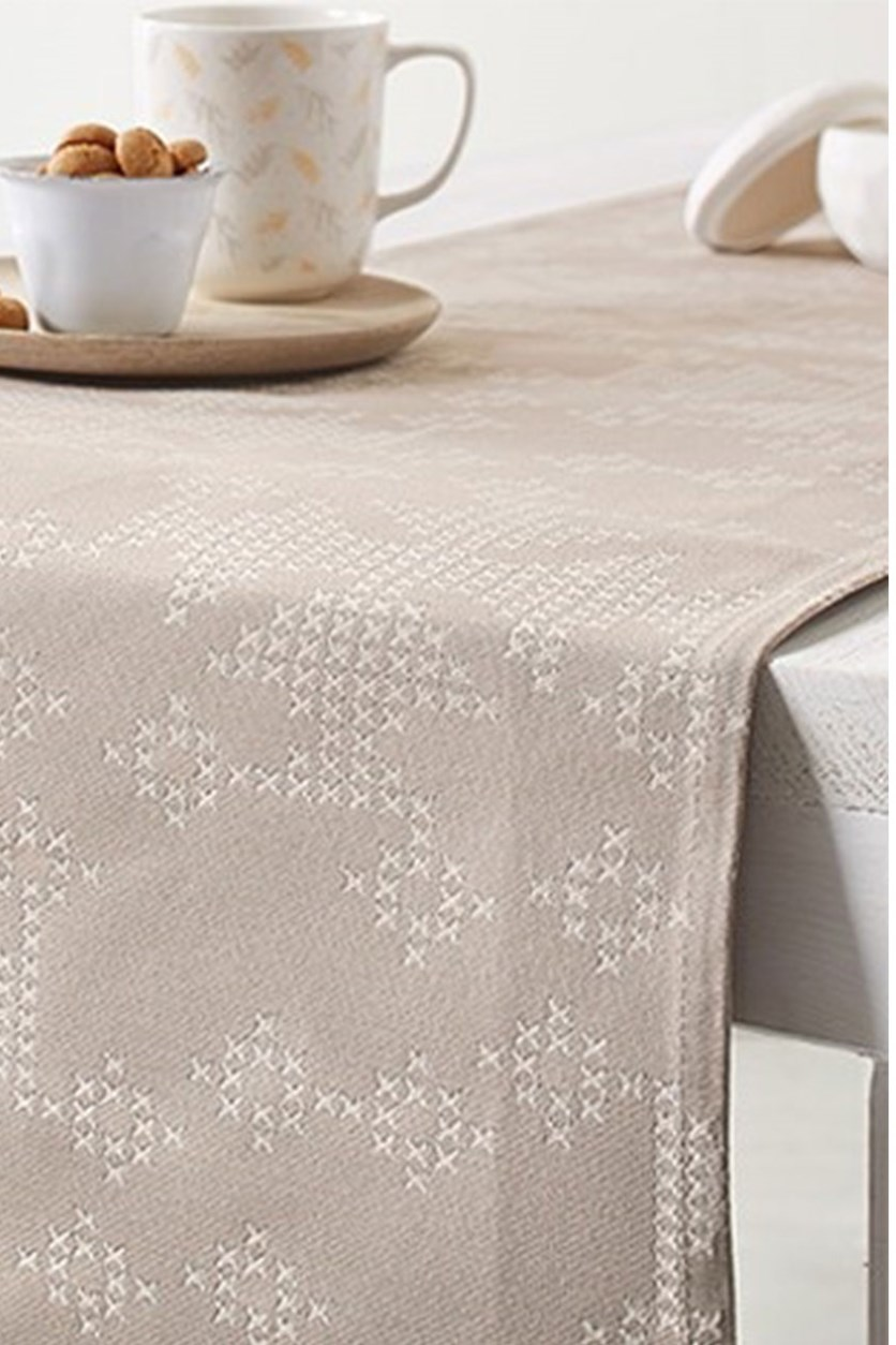 Table Runner, 180 x 40 cm, Sand color