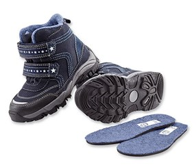 Boys Kids, Thermal Boots, Navy blue