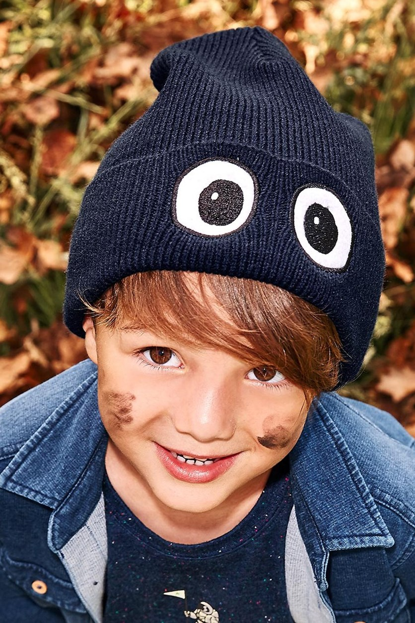 Boys Kids, Knitted Hat, Navy blue