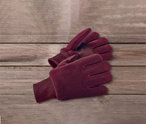 Gilrs Kids, Fleece Goves, Burgundy