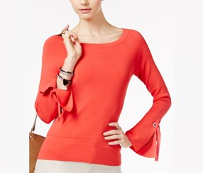 International Concepts Bell-Sleeve Sweater, Hibiscus Bloom