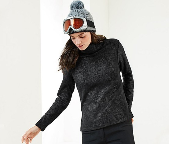Women Thermal Fleece, Black