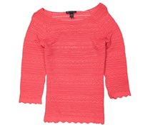 Inc Women's Textured Top, Coral