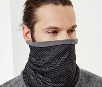 Men Double Sided Thermopulse Neck Protector, Black