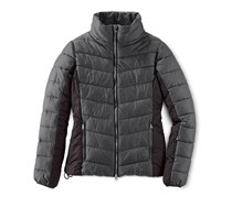 Women's Quilted Ski Jacket, Charcoal