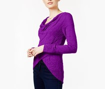 Inc International Concepts Draped Crossover Top, Vivid Purple
