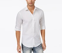 Inc International Concepts Men's Roll-Tab Chambray Shirt, White
