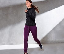 Women's Thermal Running Trousers, Purple