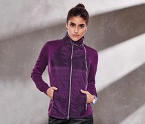 Women Thermal Running Jacket, Lilac