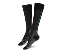 Men's Running Socks, Black/Blue