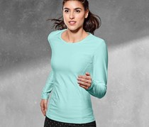 Women's Performance Top, Longsleeve, Turquoise