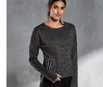 Women Thermal Running Top, Grey