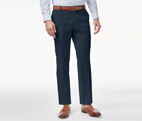 Mens Stretch Slim-Fit Pants, Navy