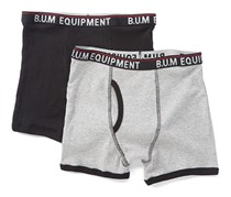 B.U.M Little Boys 2 Set Boxer Briefs, Grey/Black