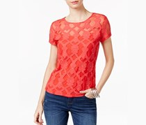Inc Embellished Embroidered Top, Hibiscus Bloom