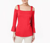 Inc International Concepts Cold-Shoulder Top, Hibiscus Bloom