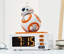 Alarm Clock Star Wars BB8, White/Orange