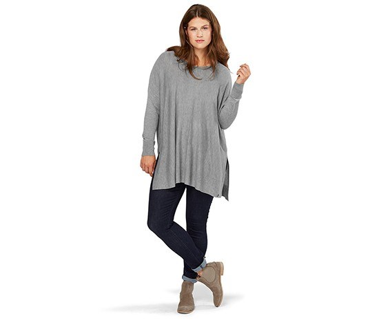 Wome Pullover of fine Knitwear, Grey