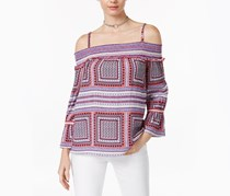 International Concepts Printed Off-The-Shoulder Top, Mosaic Widow
