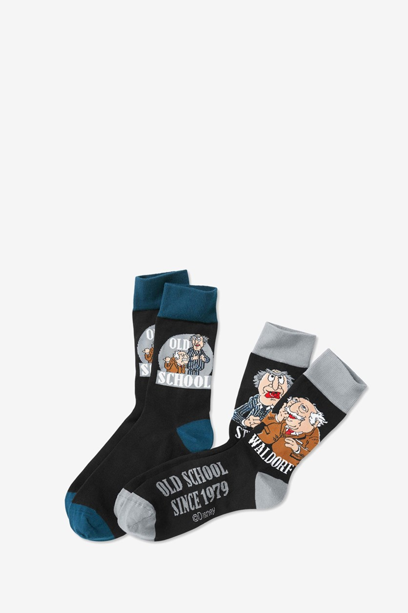 Mens 2 Pairs Of Socks, Black