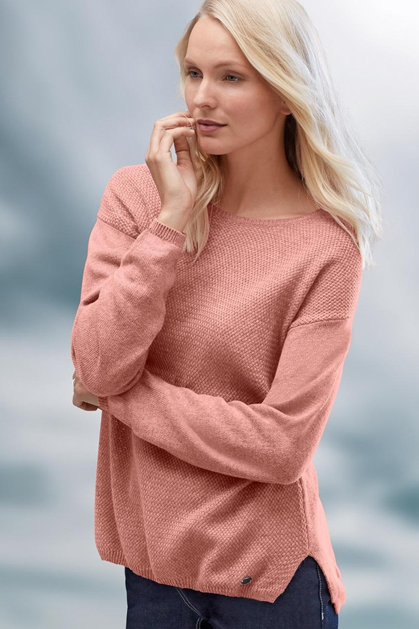 Women Pullover Rosewood Mottled, Pink