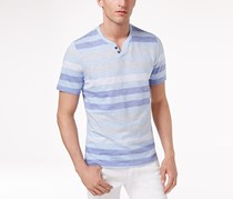 Inc Men's Heathered Striped T-Shirt, Pale Ink Blue