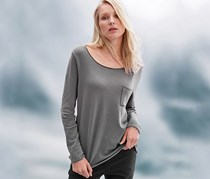 Women Pullover Top, Grey