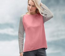 Women's Blouse, Longsleeve, Rose/Gray