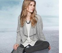 Women's Knit Blazer, Grey