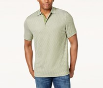 Tasso Elba Mens Jacquard Polo, Pickle Green