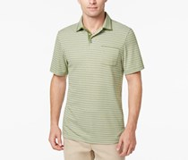 Tasso Elba Men's Supima Blend Striped Pocket Polo, Pickle Green