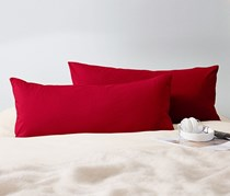 Pillowcase, Jersey,  Set of 2, 80 x 40 cm, Red