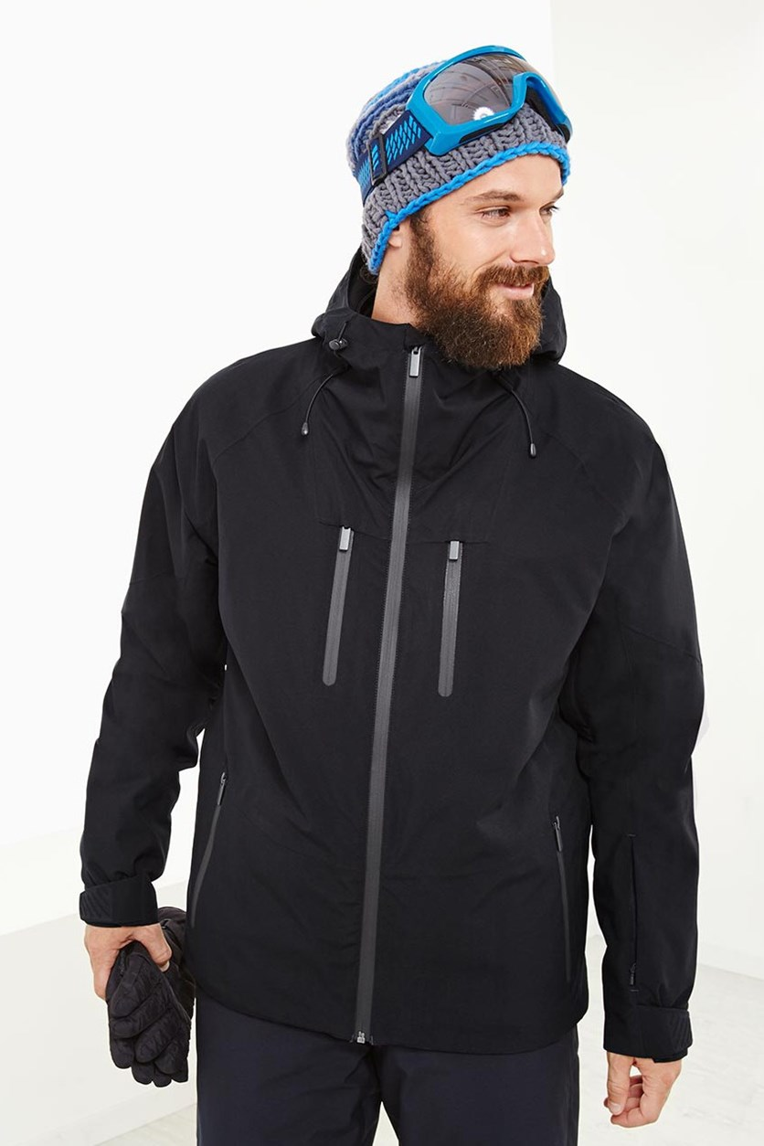 Men's Softshell Ski Jacket, Black