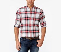 Men's Long-Sleeve Flannel Shirt, Multicolor
