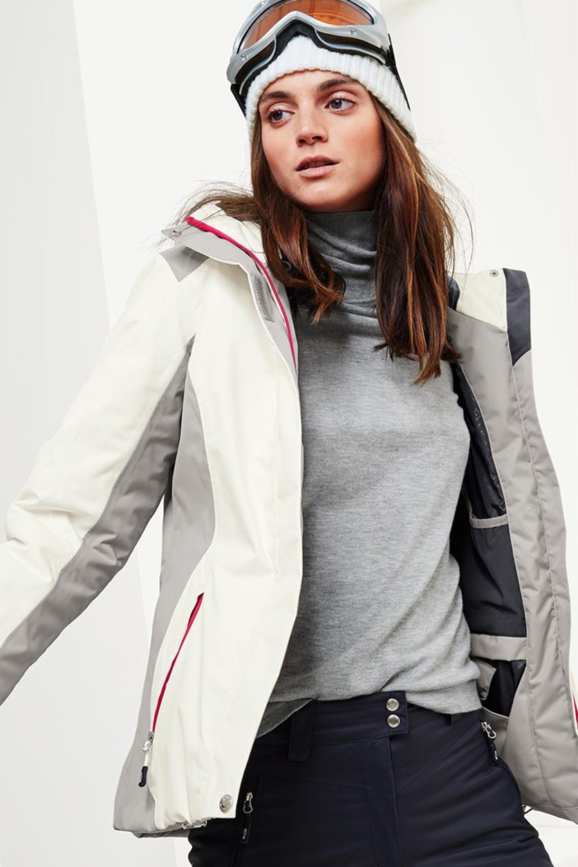 Women's Ski Jacket, White/Grey