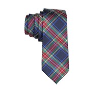 Lord & Taylor Boy's Plaid Neck Tie, Navy