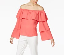 INC Off-The-Shoulder Top, Polished Coral