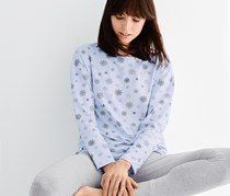 Women's Pyjamas Set, Blue/Gray