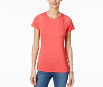 Inc Womens Petite Illusion Top, Polished Coral
