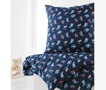 Duvet Set, Renforce, 135 x 200 cm, Blue alloverprint